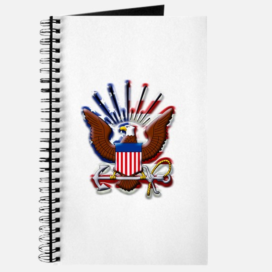USN Eagle Flag Bevel Journal