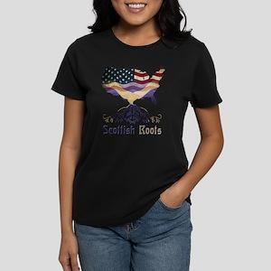 American Scottish Roots Women's Dark T-Shirt