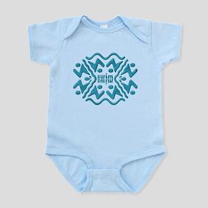 Swim Bevel Blue Infant Bodysuit