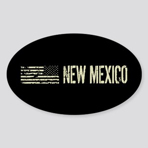 Black Flag: New Mexico Sticker (Oval)