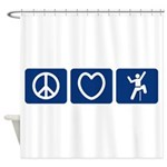 Peace Love Climb Shower Curtain