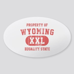 Property of Wyoming, Equality State Sticker (Oval)