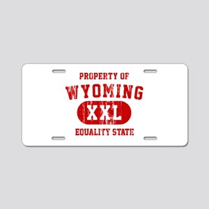 Property of Wyoming, Equality State Aluminum Licen