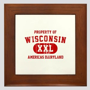 Property of Wisconsin, Americas Dairyland Framed T