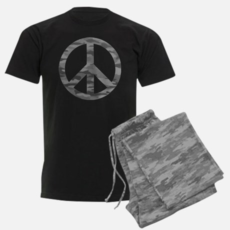 Matching Peace Sign Men's Dark Pajamas