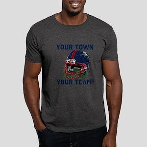 Helmet Blue Red Dark T-Shirt