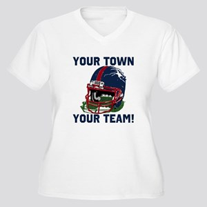 Helmet Blue Red Women's Plus Size V-Neck T-Shirt