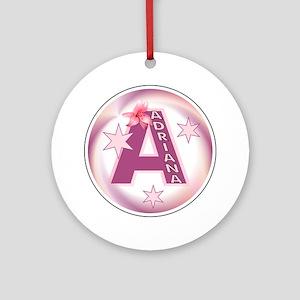 Adriana Star Initial Ornament (Round)