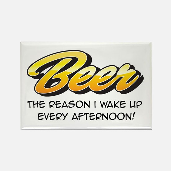 Afternoon Beer Rectangle Magnet