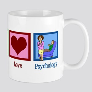 Peace Love Psychology Mug