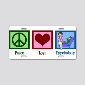 Peace Love Psychology Aluminum License Plate