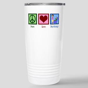 Peace Love Psychology Stainless Steel Travel Mug