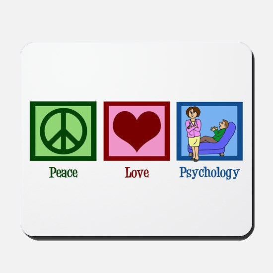 Peace Love Psychology Mousepad