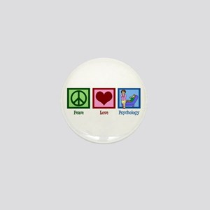 Peace Love Psychology Mini Button