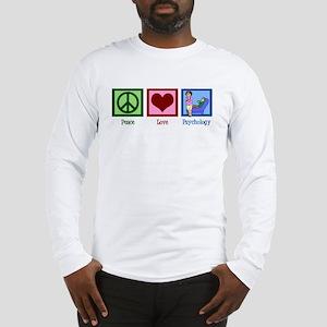 Peace Love Psychology Long Sleeve T-Shirt
