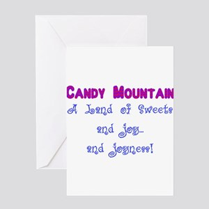 Candy Mountain for white Greeting Card