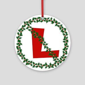 No L, Noel Ornament (Round)