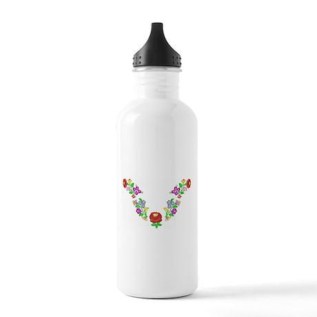 Hungarian folk motif Stainless Water Bottle 1.0L