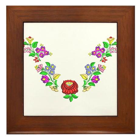 Hungarian folk motif Framed Tile