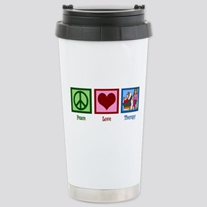 Peace Love Therapy Stainless Steel Travel Mug