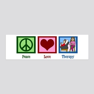 Peace Love Therapy 20x6 Wall Decal