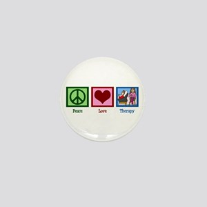 Peace Love Therapy Mini Button