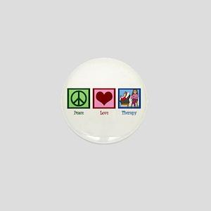 Peace Love Therapy Mini Button