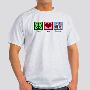 Peace Love Therapy Light T-Shirt