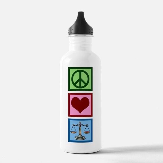 Peace Love Law Water Bottle