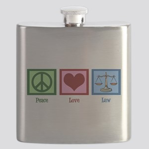Peace Love Law Flask