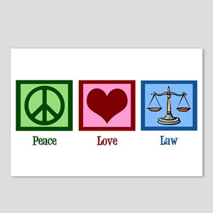Peace Love Law Postcards (Package of 8)