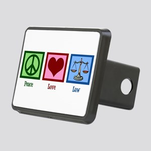 Peace Love Law Rectangular Hitch Cover