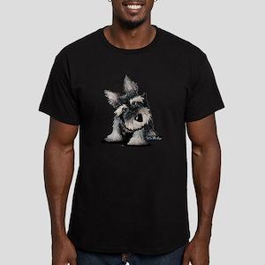 KiniArt Schnauzer Men's Fitted T-Shirt (dark)