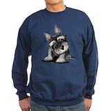 Kiniart schnauzer Sweatshirt (dark)