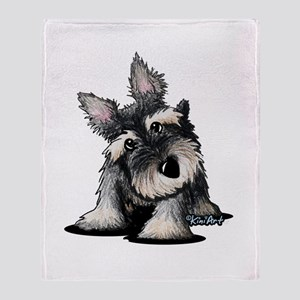 KiniArt Schnauzer Throw Blanket