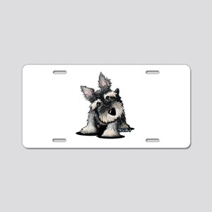 KiniArt Schnauzer Aluminum License Plate