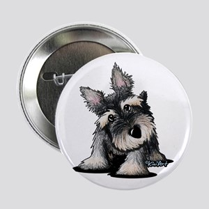 "KiniArt Schnauzer 2.25"" Button"