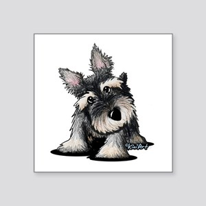 "KiniArt Schnauzer Square Sticker 3"" x 3"""