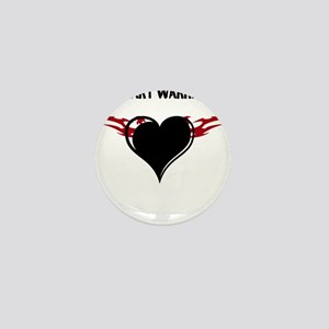 Heart Warrior Mini Button