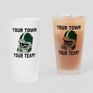 Helmet Green Drinking Glass
