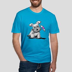 KiniArt Schnauzer Hear Men's Fitted T-Shirt (dark)