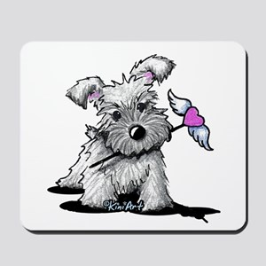 KiniArt Schnauzer Heart Mousepad