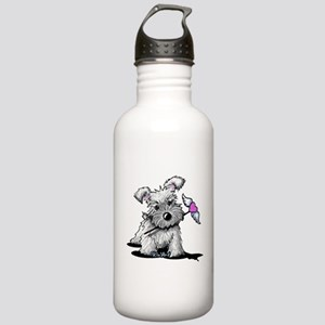KiniArt Schnauzer Hear Stainless Water Bottle 1.0L