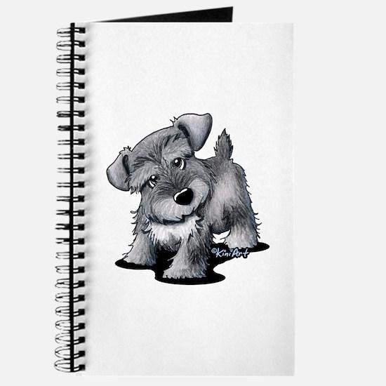 KiniArt Silver Schnauzer Journal