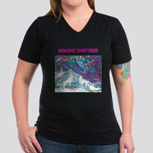 Zodiac Sign Women's V-Neck Dark T-Shirt
