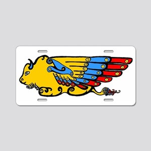 Winged Buffalo Aluminum License Plate