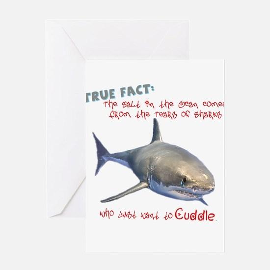 Shark Tears Greeting Card