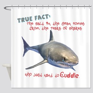 Shark Tears Shower Curtain