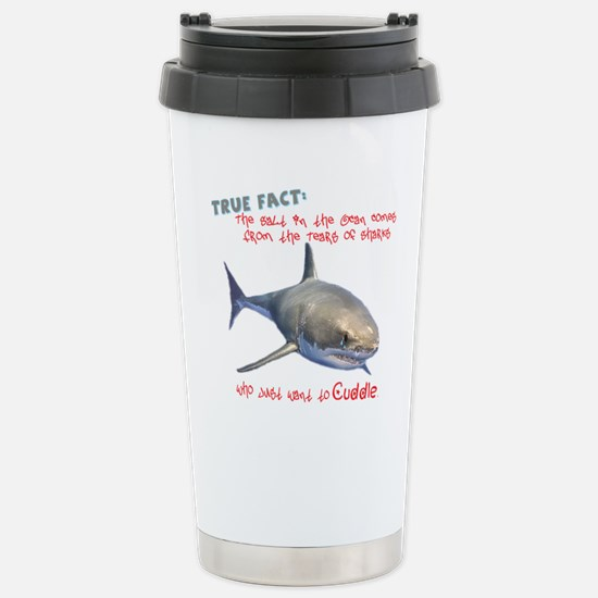 Shark Tears Stainless Steel Travel Mug