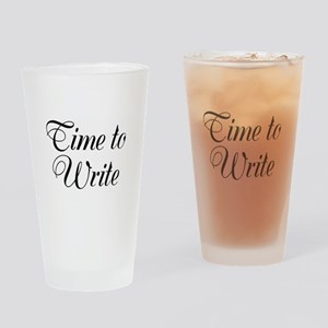 Time to Write Drinking Glass